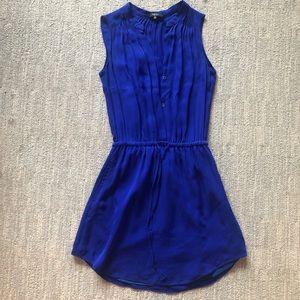 Sz XXS Babaton Blue Dress 100% Silk has pockets!